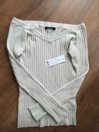 Prążkowany, cienki sweterek M