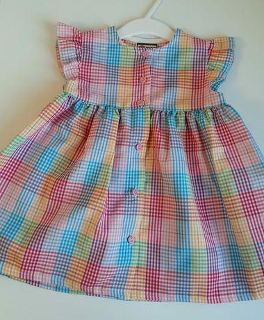 Śliczna kolorowa sukienka Peanuts 86