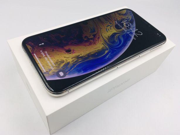 iPhone XS 64GB SILVER | 12 MSC GWARANCJI | zestaw Apple