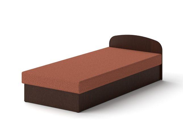 Łóżko hotelowe 90 x 200 Wenge tapczan z materacem