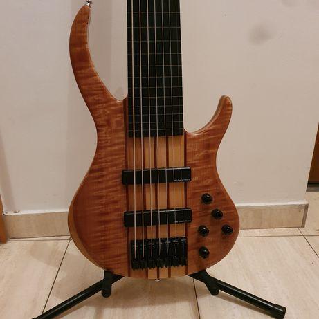 Zamiana gitara basowa bas 7 strun strunowa fretless bezprogowa