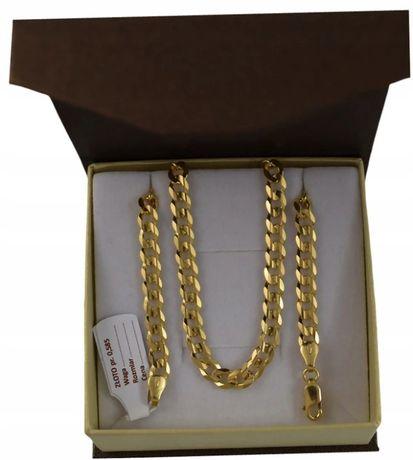 Złoty Łańcuszek PANCERKA / ZŁOTO pr. 585 + GRAWER