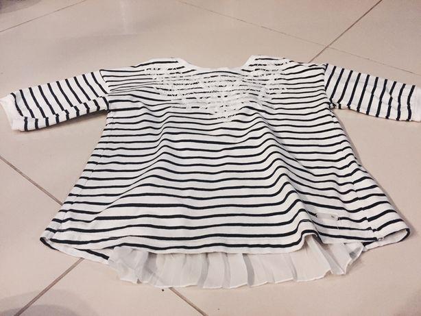 Bluzeczka wiosenna z Mayoral bluzka t shirt elegancka na koniec roku