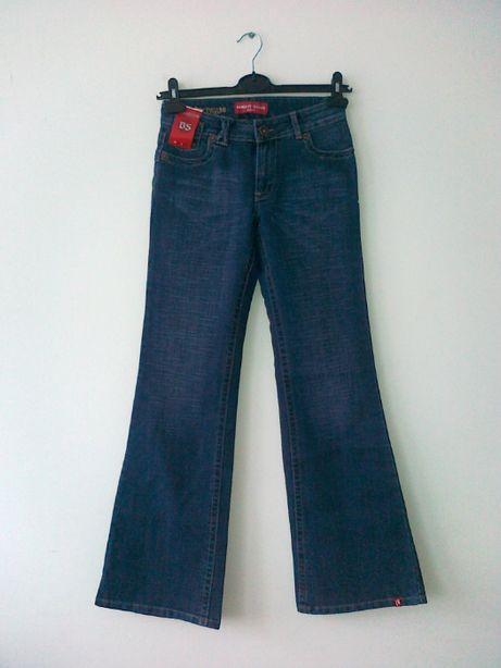 Spodnie dżinsy dzwony W29 L33 bright star
