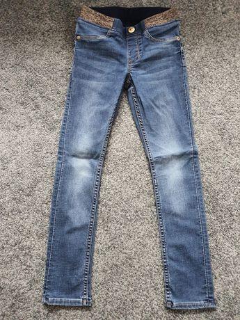 Jeansy dziewczęce na gumce H&M rozm. 122