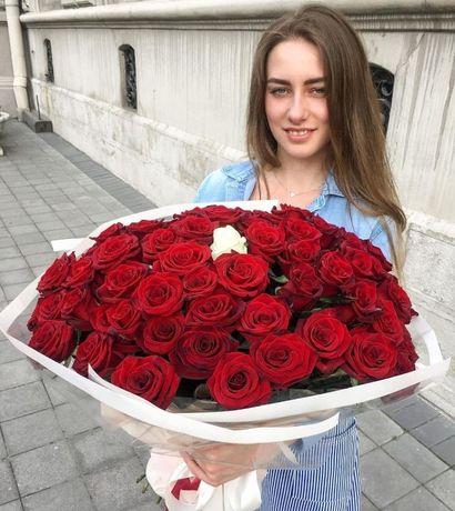 101 троянда, рози, троянди доставка квітів букети тюльпани живі квіти