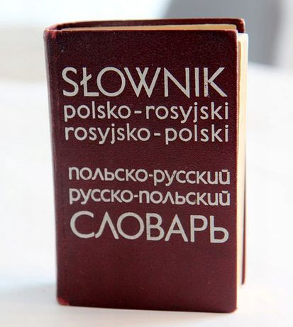 Słownik mini polsko rosyjski rosyjsko-polski 1974