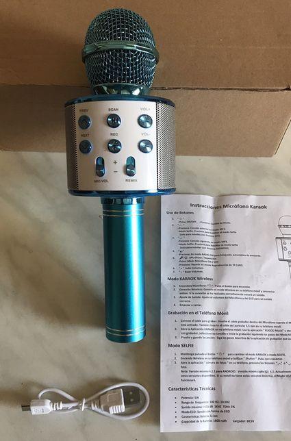 Hiszpański mikrofon bezprzewodowy niebieski do Karaoke głośnik, selfie