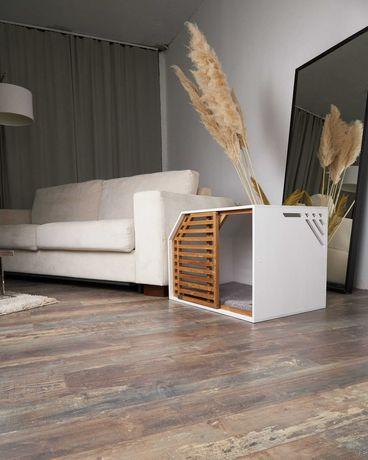 Будка домик для собак в квартиру, стильный элемент интерьера
