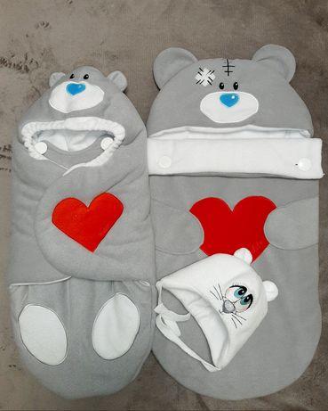 Набор для выписки , набор , конверт ,кокон , комплект для новороженых