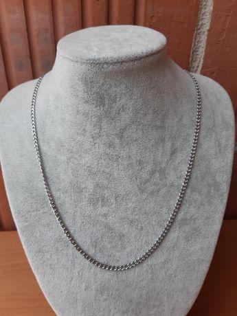 Łańcuszek ze stali chirurgicznej w kolorze srebrnym 50 cm pancerka