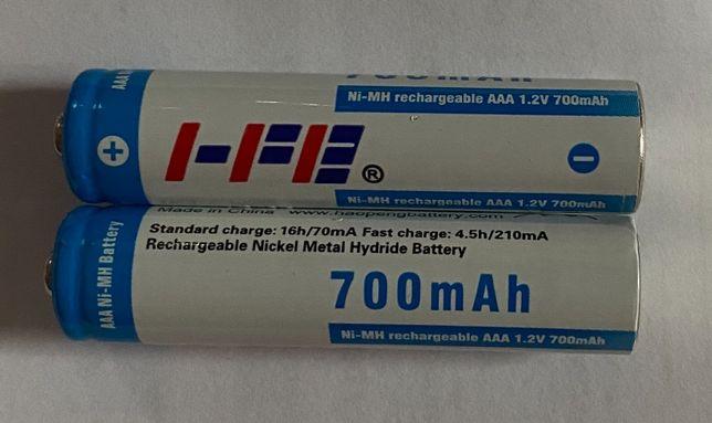 Akumulatorki AAA 700mAh Ni-MH 1.2V