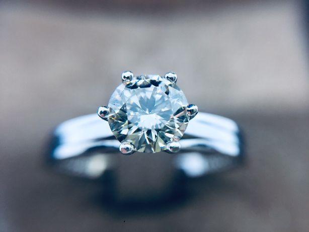 Золотое кольцо Домиани Domiani с бриллиантом. 0.87 карат. Солитер.