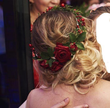 Wianek na włosy ślub