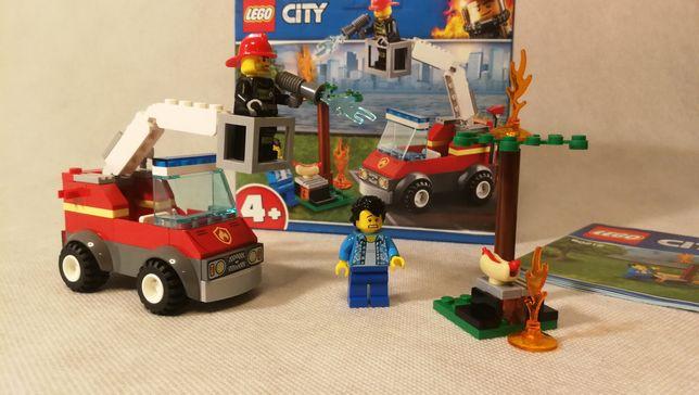 Lego City strażak Płonący grill 60212 jak nowe