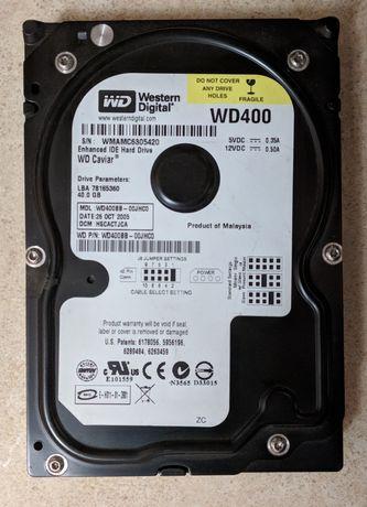 Жёсткие диски 40Gb, 160Gb, 400Gb с интерфейсом IDE. Шлейф в подарок!