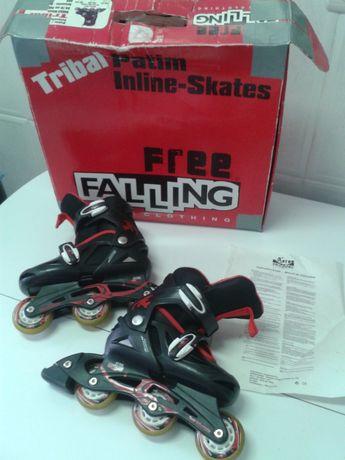 PATINS em linha marca Free Falling p/ criança, E OFEREÇO DVD