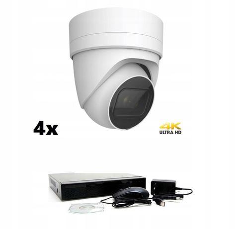 zestaw kamer IP SIECIOWYCH 12MPX 4K MEGA
