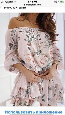 Легкое платье на лето L ,но сядет идеально на М