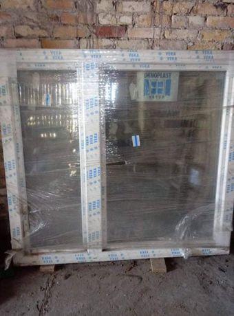 Okno OKNOPLAST nowe 150 x 165 białe plastikowe