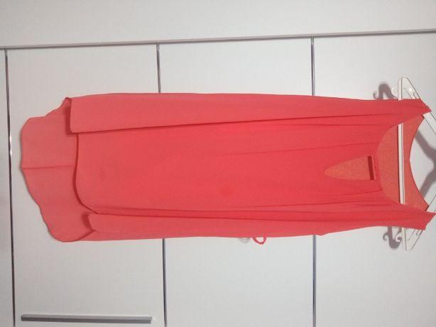 Sukienka asymetryczna z wstawka na biuście
