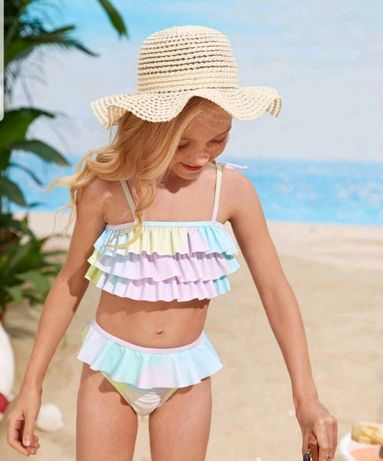 Bikini florido menina novo 9/10 anos
