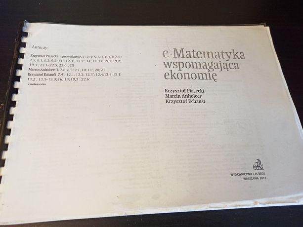 Ematematyka wspomagającą ekonomię