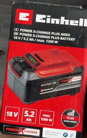 Nowy akumulator 5,2Ah bateria Einhell Power X-Change Plus Akku  18V
