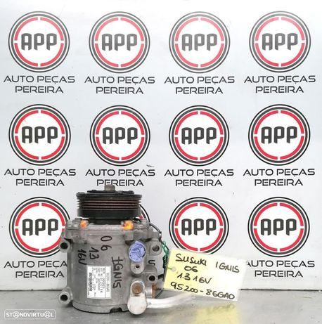 Compressor ar condicionado Susuki Ignis 1.3 16V de 2006 referência 95200- 86GA0