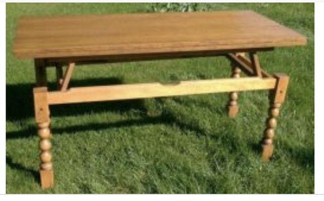 Dębowy rozkładany stół/ ława