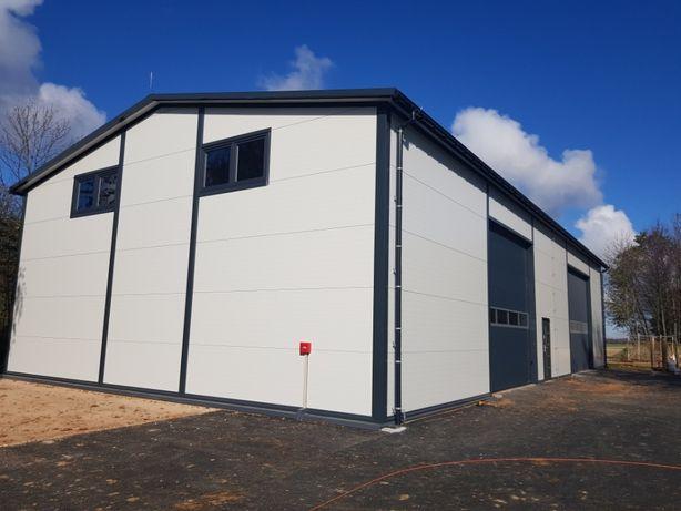 Hala, magazyn, garaż, budynek z płyty warstwowej, stal 12,5x25x5,5