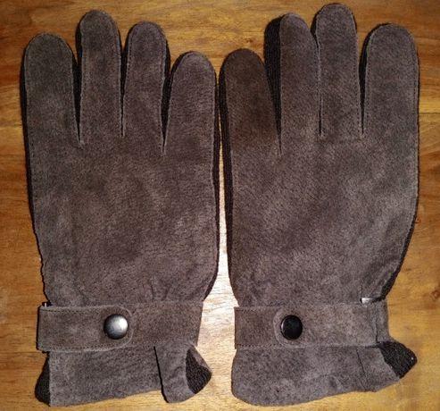 Кожаные замшевые перчатки F&F, L/XL