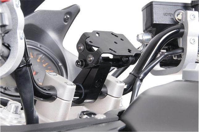 Suporte em metal GPS telemóvel smartphone guiador anti-vibração mota