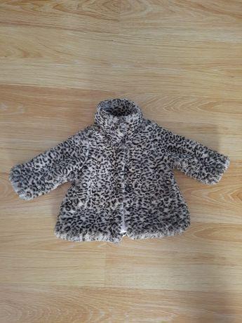 Futerko kurtka dla małej damy Coolclub r. 68 panterka jesień