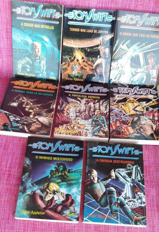 Lote 8 livros Tom Swift