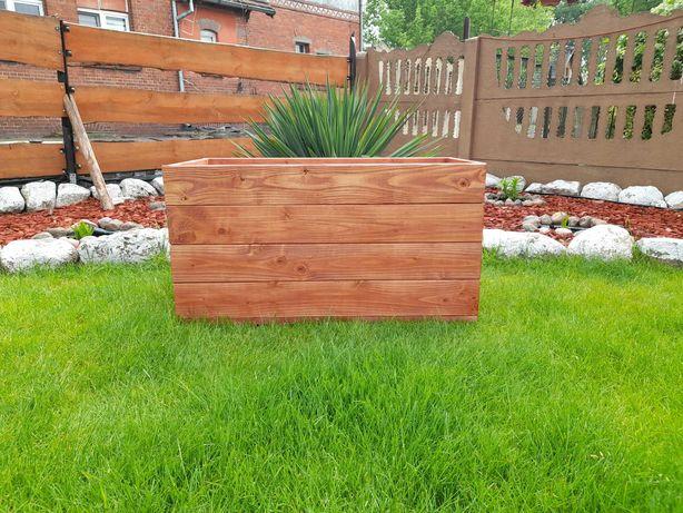 Donica ogrodowa drewniana 80x40 wys. 40 Doniczka na kwiaty duża Kurier