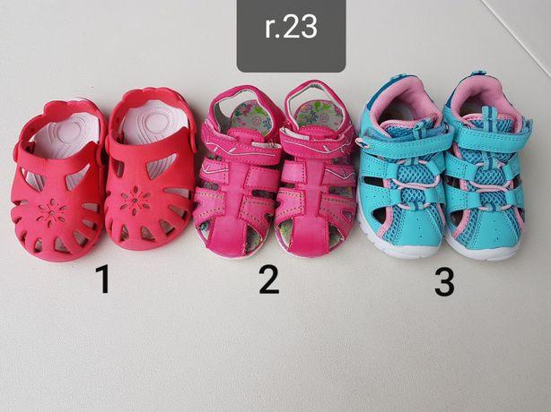 r.23 sandały sandałki klapki ogrodowe jak nowe
