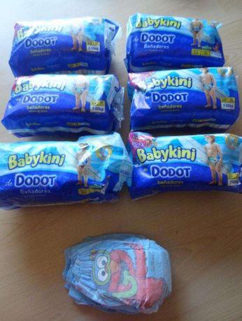 Cada pacote Fraldas banho babykini dodot dos 7-15kg,tam 3/4, 12unidade