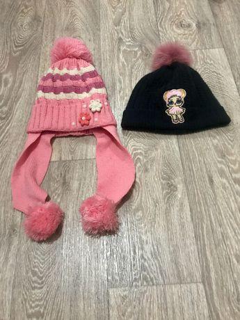 Зимняя шапка , демисезонная шапочка для девочки 3-6 лет