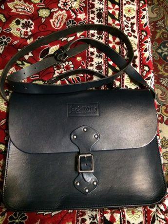 Кожаная сумка портфель Jack Wills (Англия).