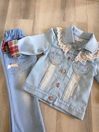 Джинсовый костюм для маленькой принцессы