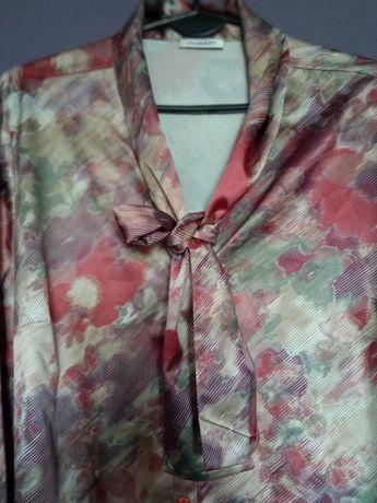 DAMART bluzka koszulowa żabot krawatka 46