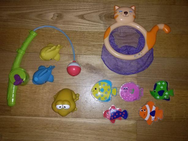 Игрушки для ванной - 2 рыбалки и лягушка.