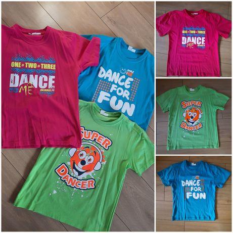 T-shirt bluzki z nadrukiem 134, 140, 146