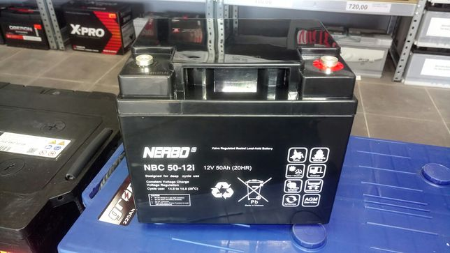 Akumulator żelowy AGM 12V 50ah do wózka inwalidzkiego cykliczny