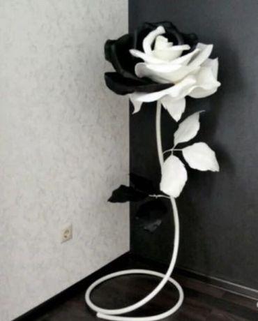 Ростовая роза черно-белая