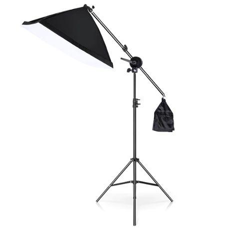 Набор для фотосъемки: стойка+штанга-противовес+софтбокс на 4 лампы