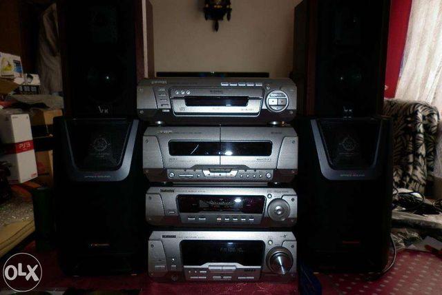 Super Wieża Technics SA-EH790 z MP3, 2 x 100W+ 1 x 80W+ 2 x 40W 360RMS
