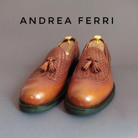 Туфли Тассел-лоферы с кисточками Andrea Ferri Италия 42-42,5р.