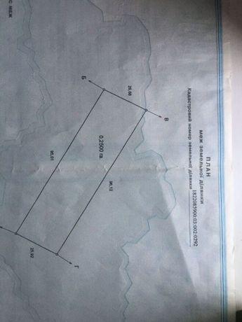 Земельна ділянка 25 сотих під забудову в с. Піски Житомирського району